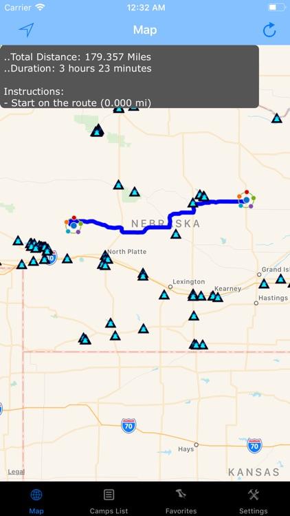 Nebraska – Camping & RV spots