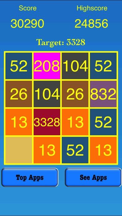 3328 Number Tiles Merge Game screenshot 4