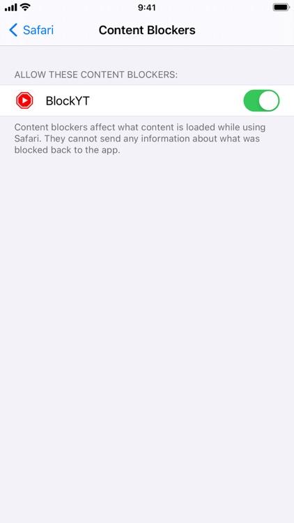 BlockYT for Safari screenshot-4