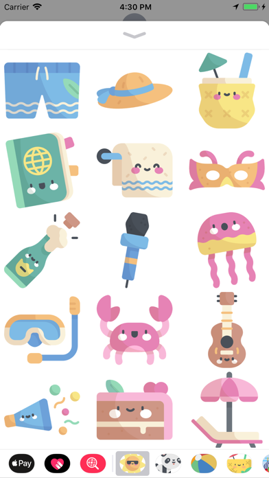 Cool Summer Party Stickers screenshot three