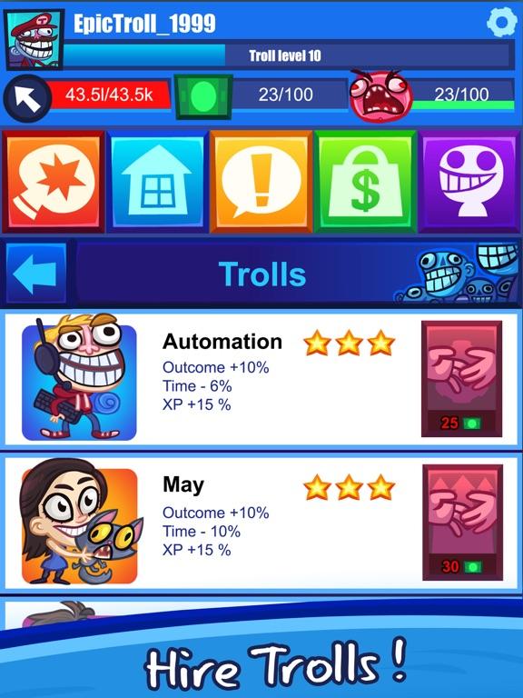 Troll Face Clicker Quest screenshot 7