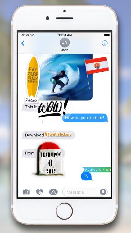 Tahiti Stickers for iMessage screenshot-4