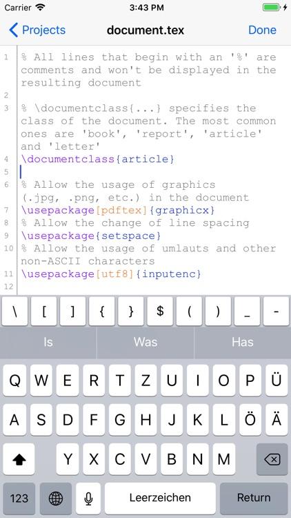 VerbTeX LaTeX Editor