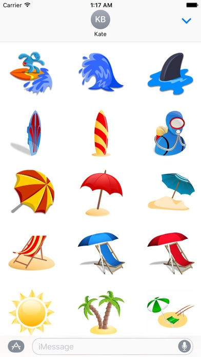 Summer And Beach Icon Sticker Screenshot