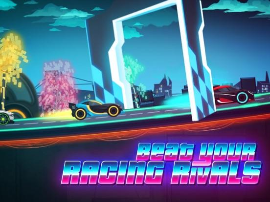 Скачать Neon Rider Drives Sports Car