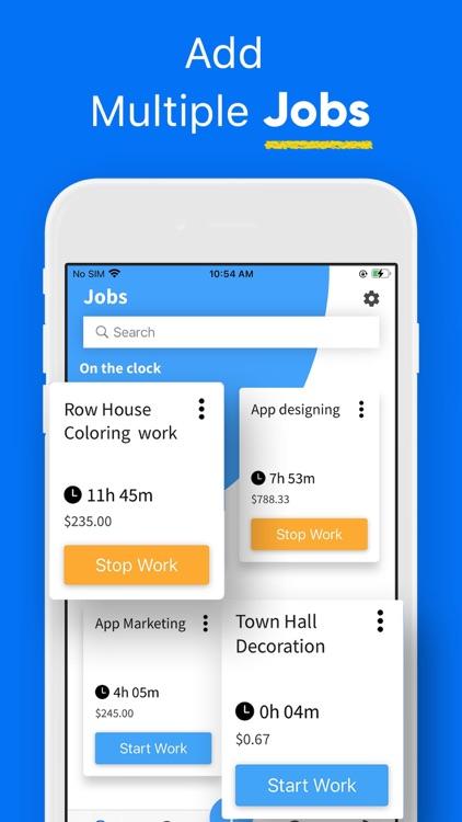 Work Hours Tracker, Clock In screenshot-4