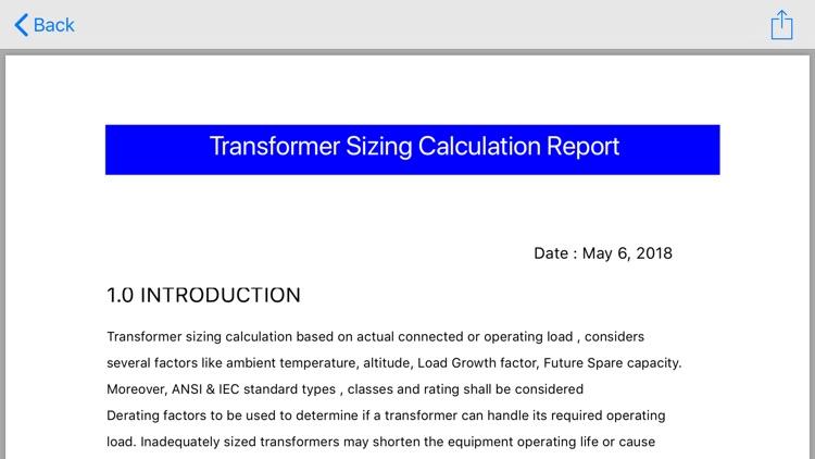 Transformer Sizing Calculation screenshot-8