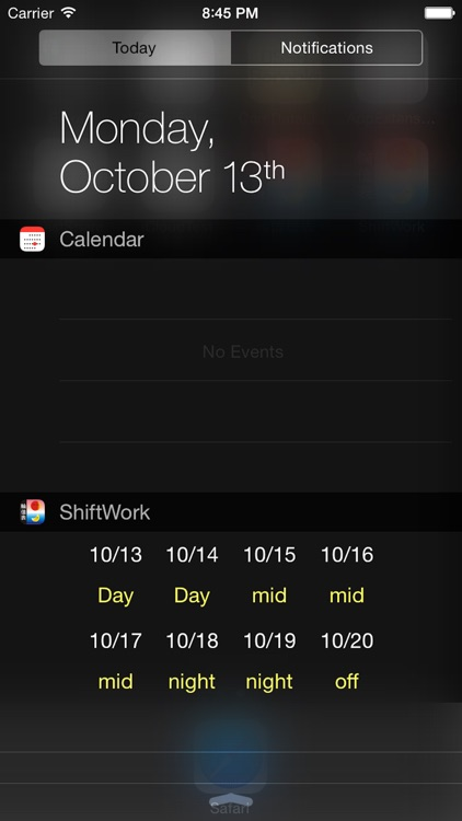 Shift worker's calendar screenshot-2