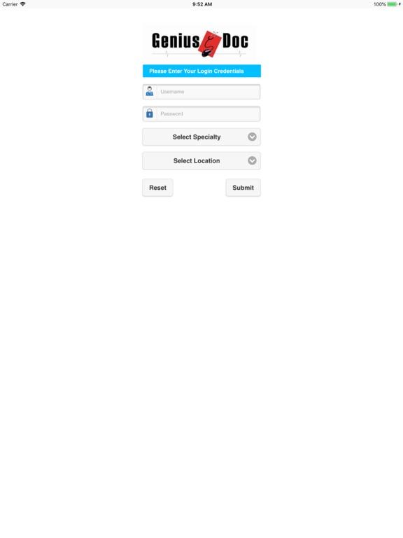 Image of GeniusDoc. for iPad