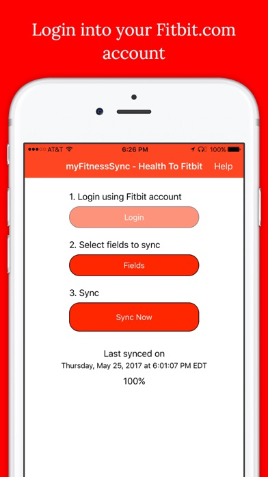 Health App to Fitbit Sync app image
