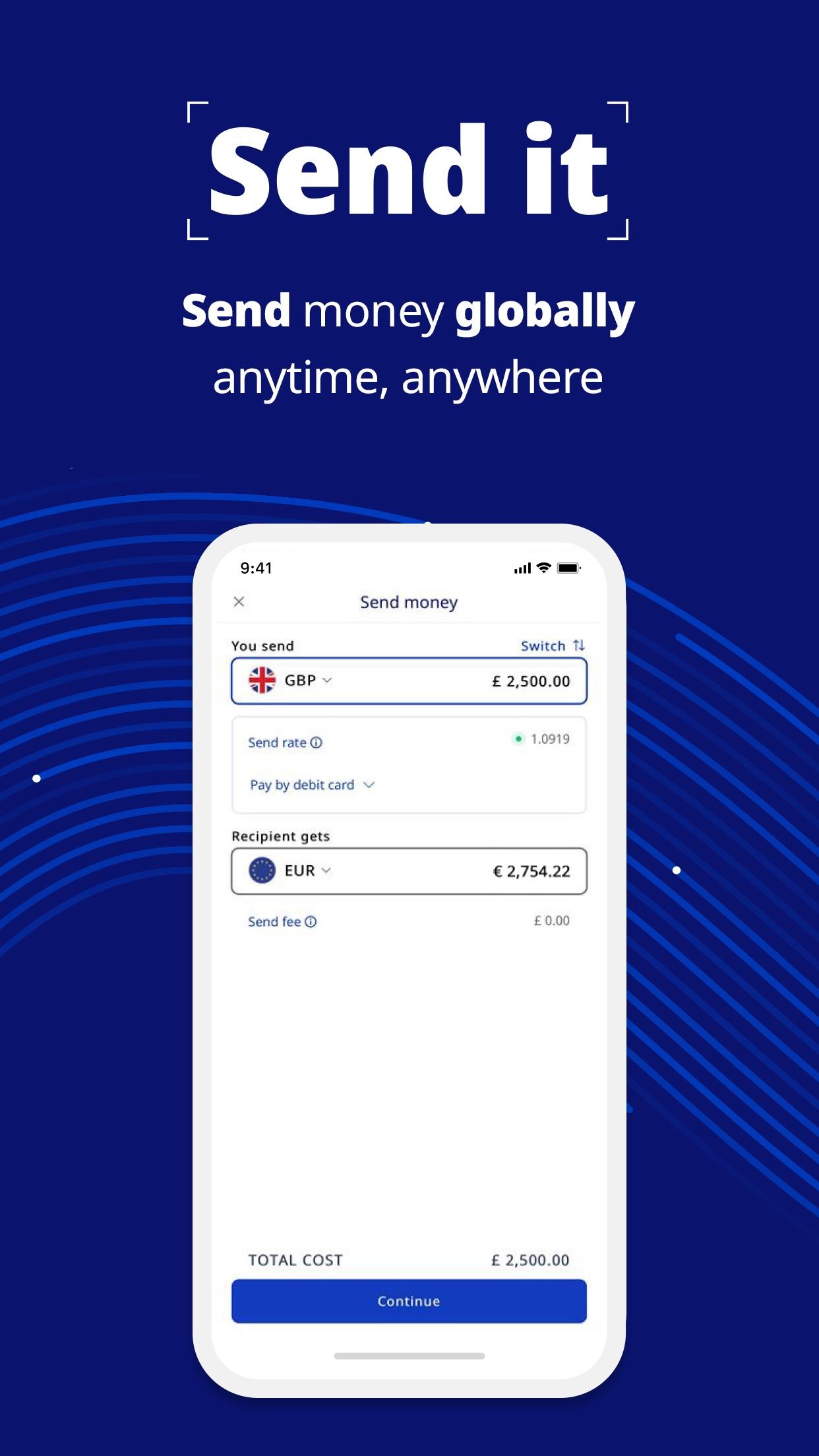 Screenshot do app Xe Currency & Money Transfers