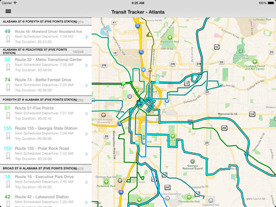Transit Tracker - Atlanta-ipad-2
