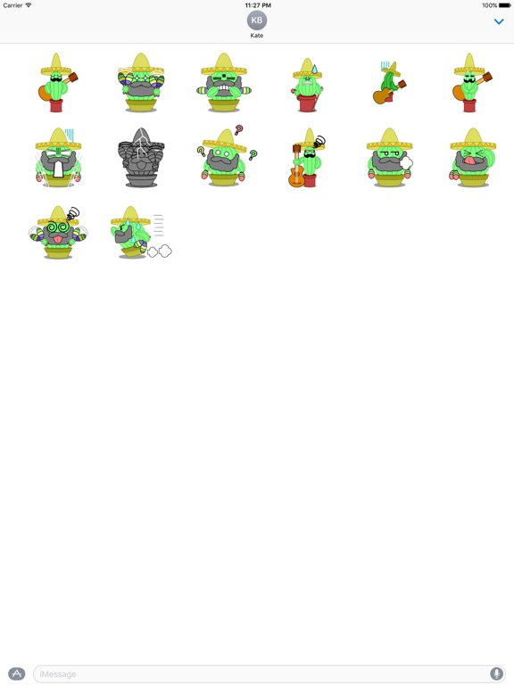 Mexico Cactus Music Band Emoji screenshot 7