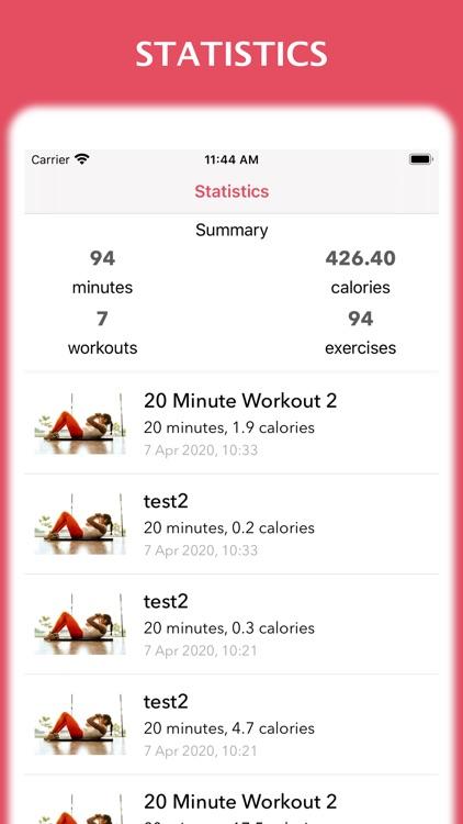 Workout for women at home screenshot-5