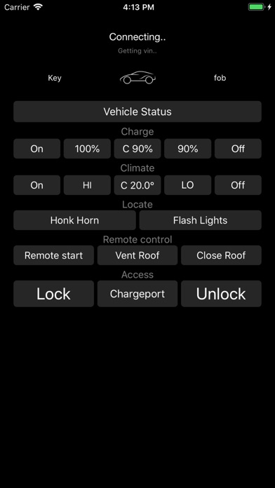 Key fob for Tesla Screenshots