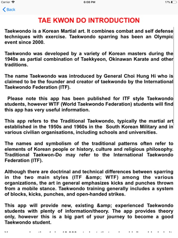 Taekwondo ITF Learn The Theory by Barry Fisher (iOS, United