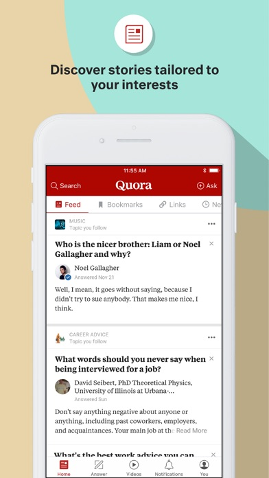 Screenshot for Quora in United States App Store