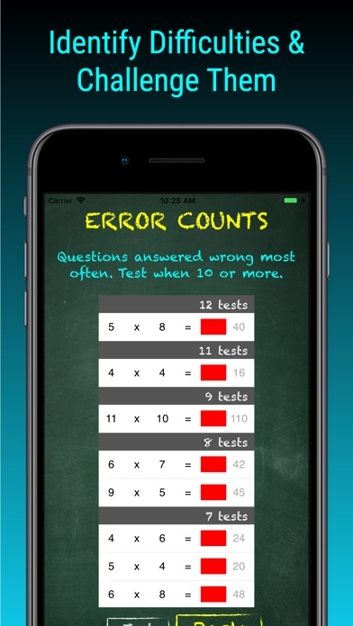 TimesX Times Tables Tester Screenshots