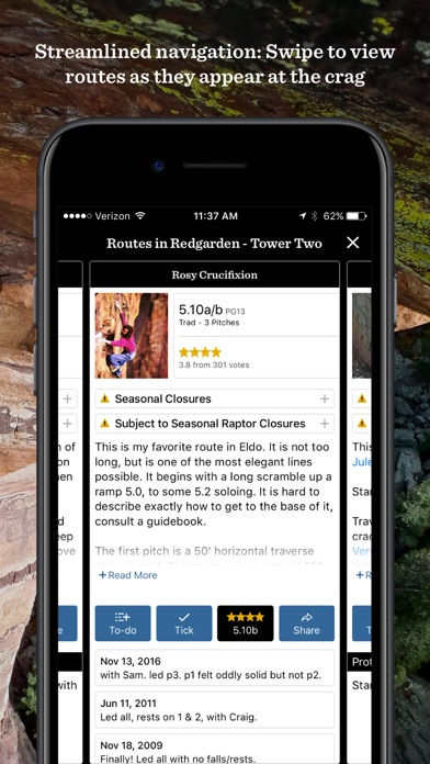 Mountain Project review screenshots
