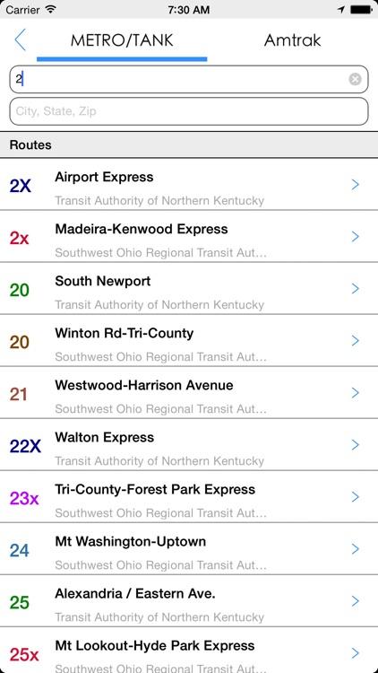 Transit Tracker - Cincinnati screenshot-4