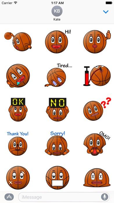 Basketball Club Emoji Sticker screenshot 1
