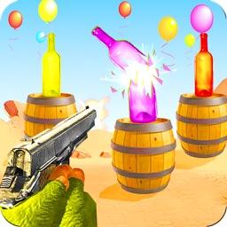 Real Gun Bottle Shooter 3D