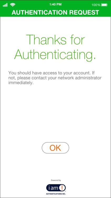 IAmI Authentication - Admin