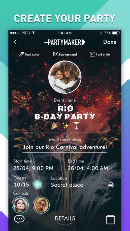 PartyMaker: Event Planner screenshot-0