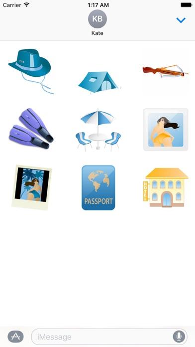Summer And Beach Icon Sticker screenshot 5