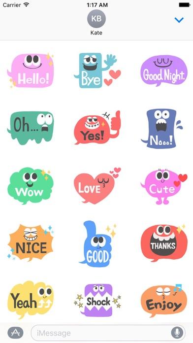 Animated Popular Chat Sticker screenshot 1
