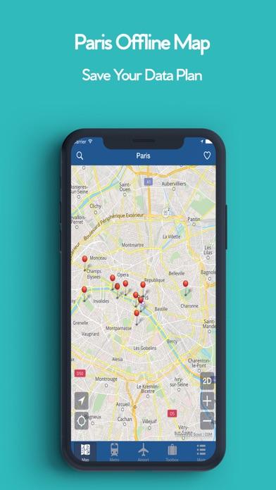 パリオフライン地図 - シティメトロエアポートのおすすめ画像1