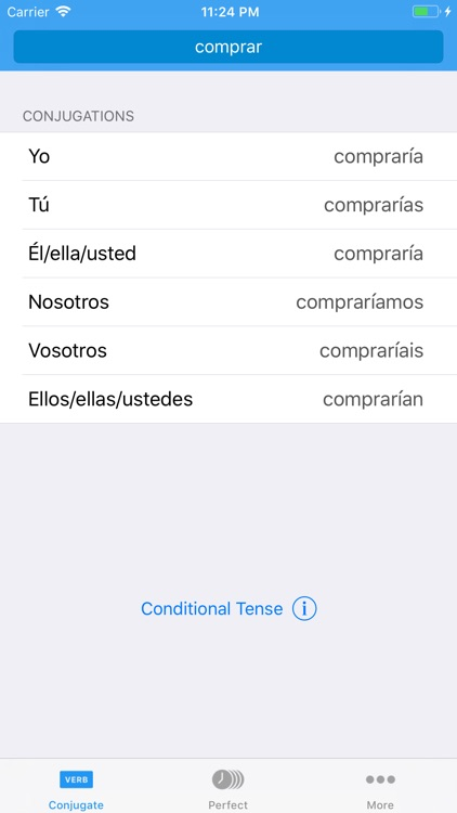 Conjugate Spanish Verbs screenshot-0