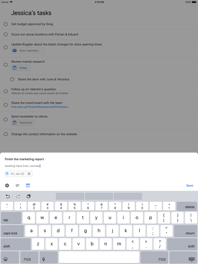 Google Tasks: super efficienza Screenshot