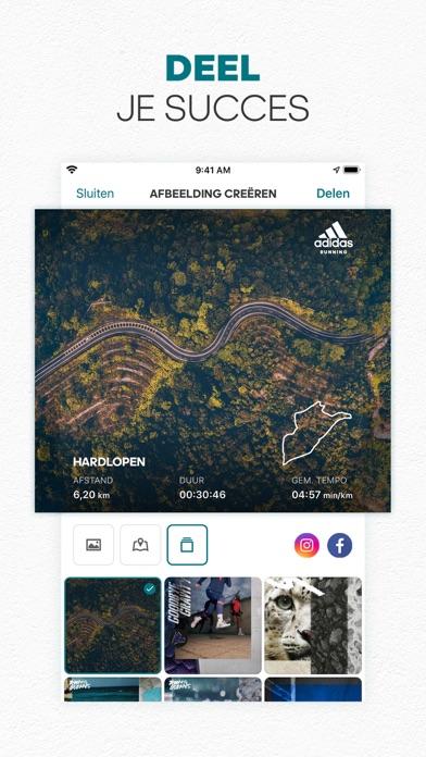 adidas Running by Runtastic iPhone app afbeelding 3