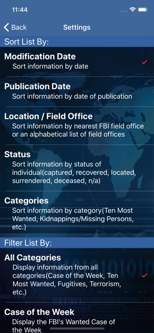 FBI Wanted on the App Store