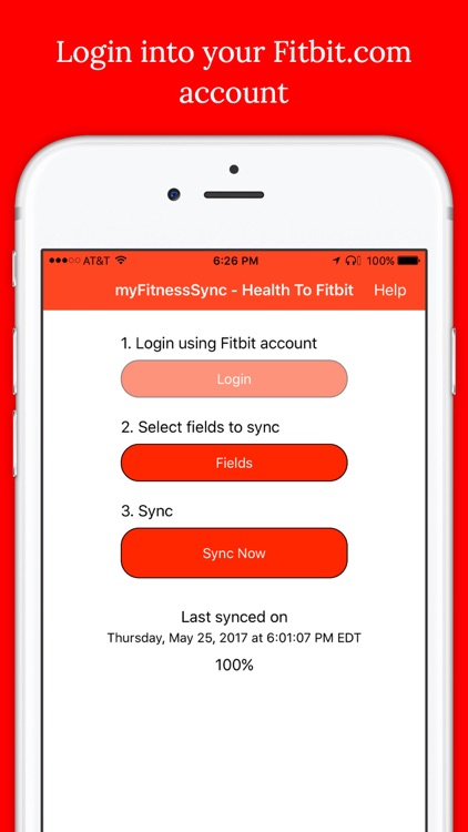 Health to Fitbit Sync