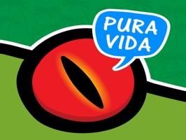 Stickers with fun Costa Rican sayings
