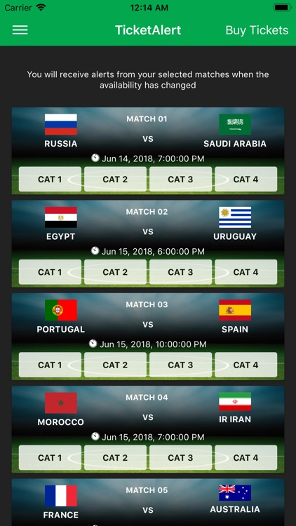 TicketAlert 2018 Football Cup screenshot-4