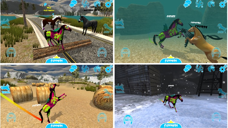 Hill Cliff Horse - Online screenshot-0