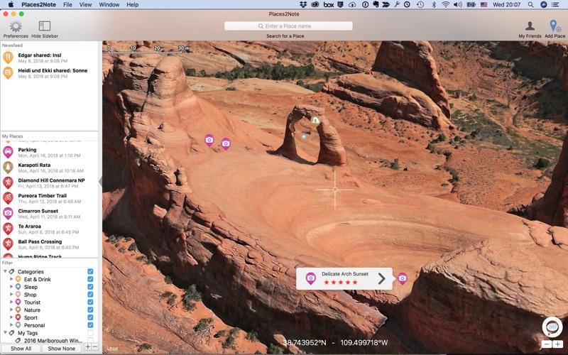 Places2Note скриншот программы 3