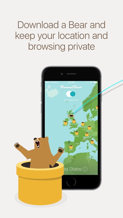 TunnelBear VPN & Wifi Proxy screenshot-0