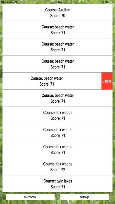 Golfer Score screenshot two