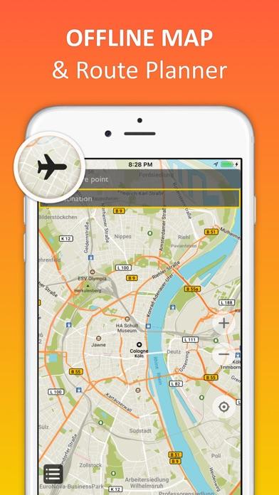 Cologne/Bonn offline map & nav ScreenShot0