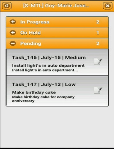 VMAXSOR - Task Management - náhled