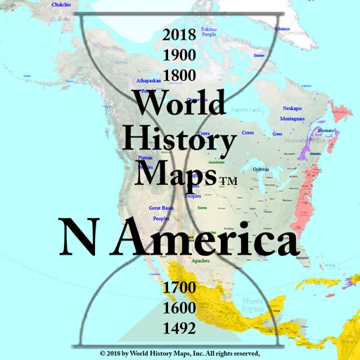 Map Of America History.World History Maps N America By John Nelson