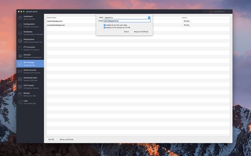 Скриншот №9 к goPanel 2 - Web Server Manager для Mac