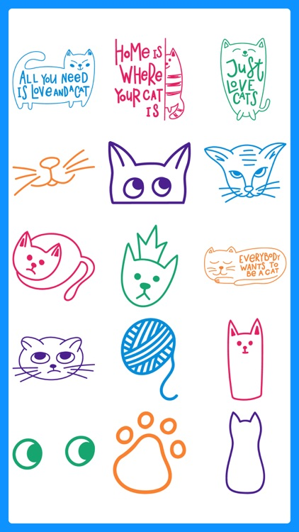 Punny Cat Stickers Pack Emojis