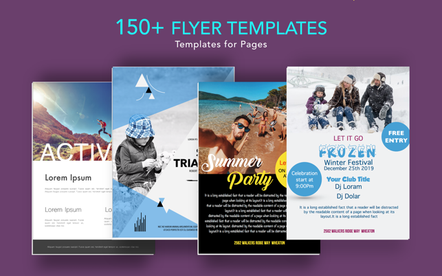 Flyer Templates For Pages On The Mac App Store