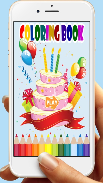 Birthday Cakes Coloring Book Games For Kids By Krisana Pimpru