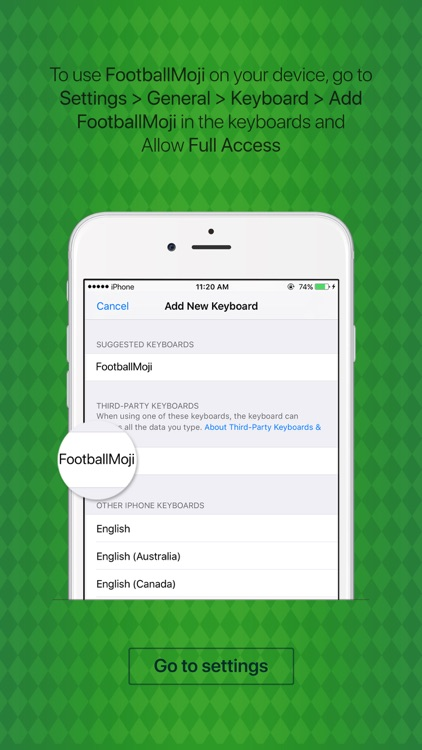 FootballMoji - football emoji & stickers keyboard screenshot-3